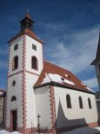 Abertamy - kostel Čtrnácti sv. pomocníků |
