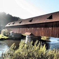 Radošov - dřevěný krytý most