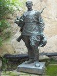 Žlutice - socha rudoarmějce   Žlutice - socha rudoarmějce