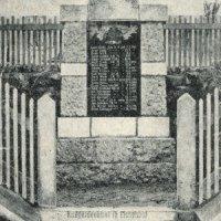 Dubina - pomník obětem 1. světové války