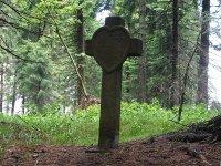 Boží Dar - kamenný kříž  