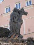 Karlovy Vary - socha sv. Bernarda  