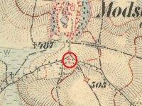 Močidlec - Mertlův kříž   Močidlec - Mertlův kříž