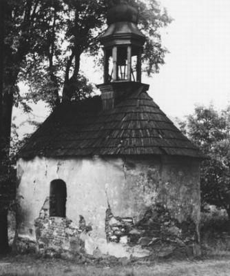 barokní kaple v Kamenci v roce 1963