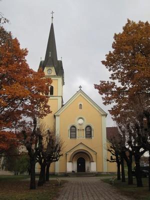 kostel Povýšení sv. Kříže - listopad 2009