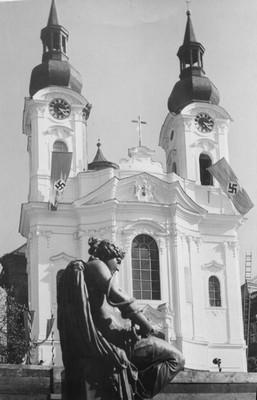 kostel sv. Máří Magdalény roku 1936
