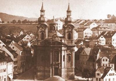farní kostel sv. Máří Magdalény v době před rokem 1890
