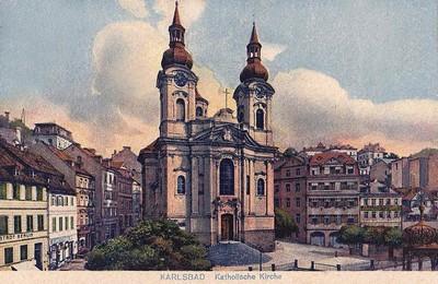 kostel sv. Máří Magdalény ve 20. letech 20. století
