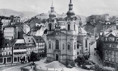 kostel sv. Máří Magdalény kolem roku 1940
