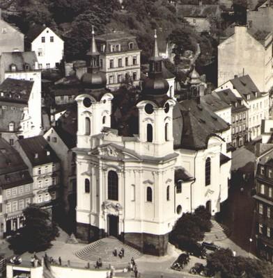kostel sv. Máří Magdalény ve 40. letech 20. století